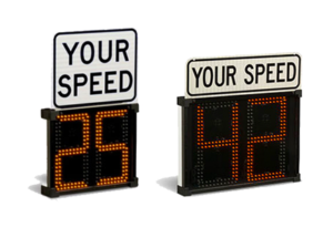 Shield radar speed sign from all traffic solutions is portable and web-enabled for effective traffic enforcement.