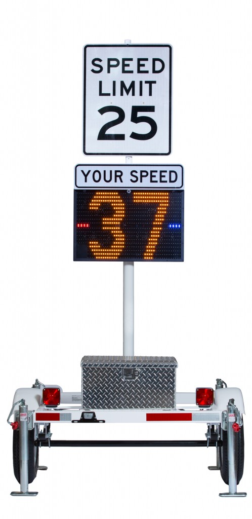 Why One Town Loves Its Blinking Radar Speed Display All