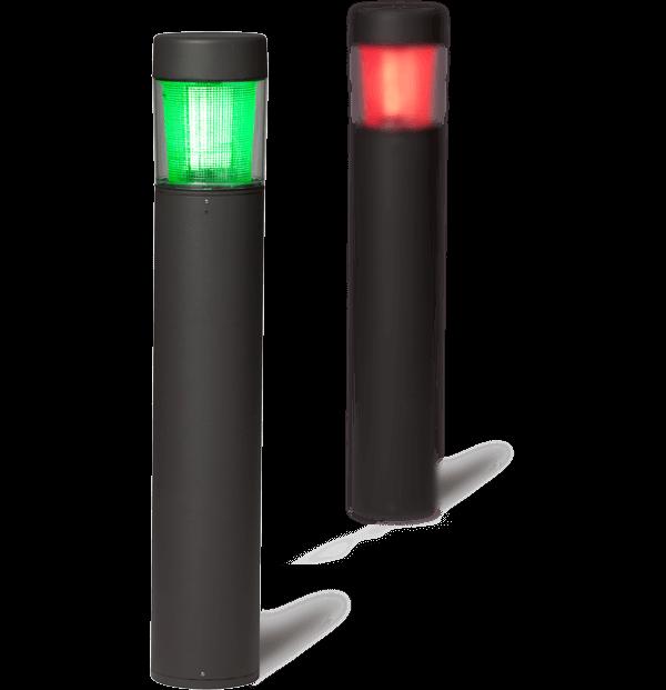 parking availability LED indicator bollards