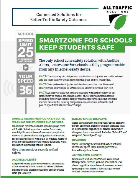 SmartZone for Schools Radar Speed Display for Traffic Safety
