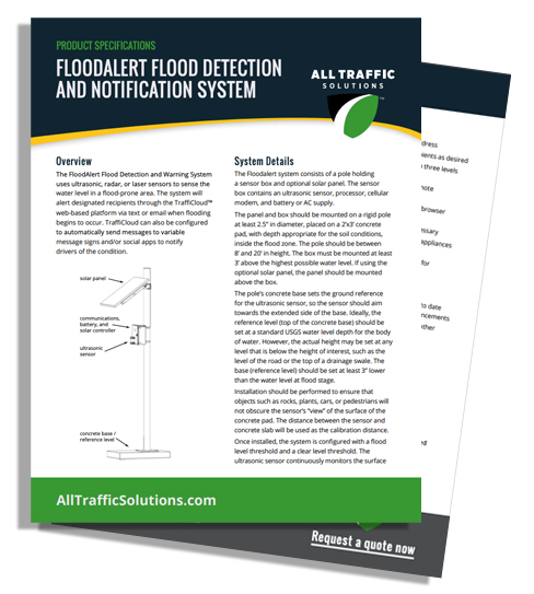 Flood Detection and Notification System | All Traffic Solutions