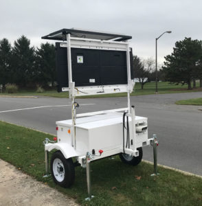 speed trailer variable message sign ALPR