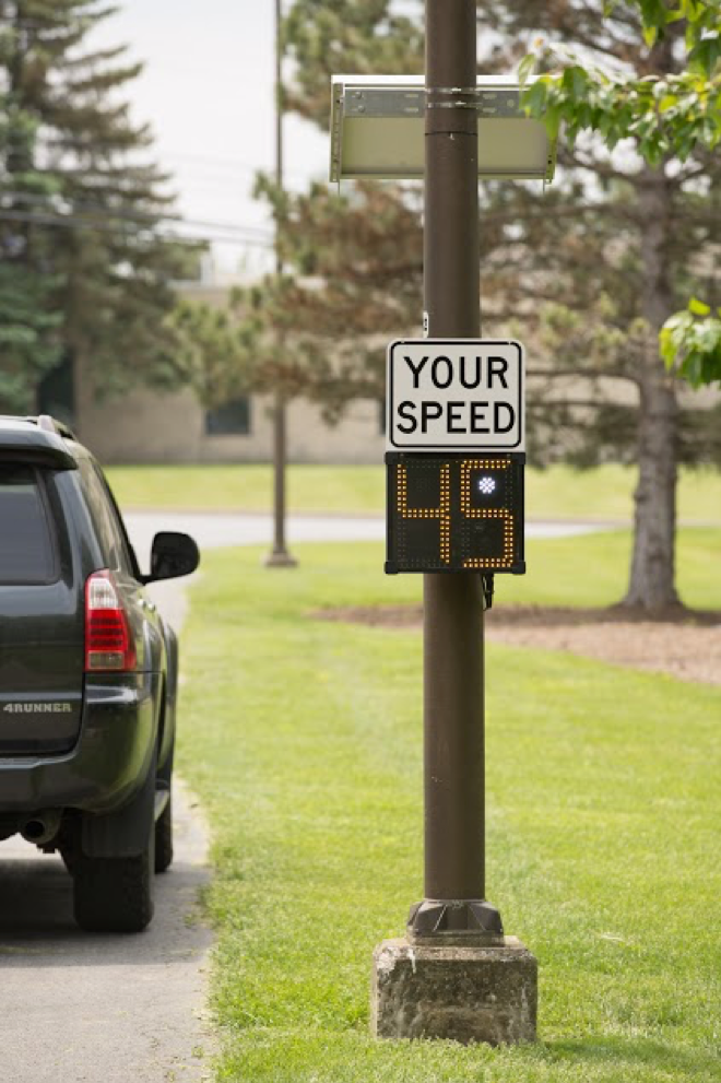 Shield portable radar speed sign from All Traffic Solutions