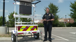 LMPD with SpeedAlert radar speed display